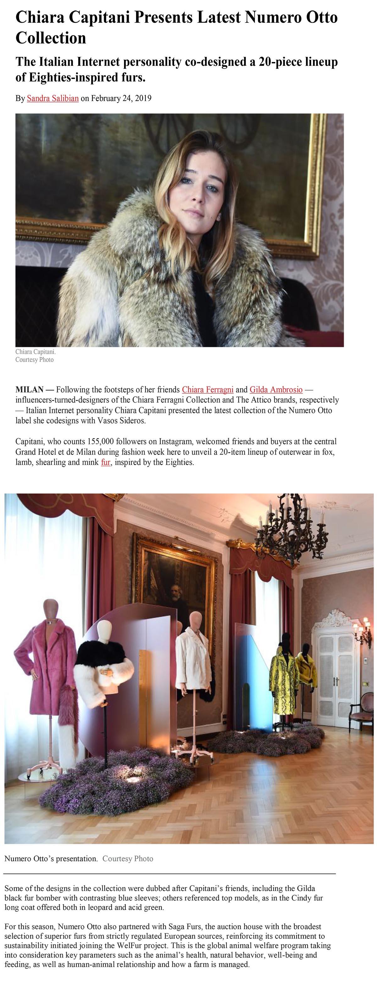 Chiara Capitani Presents Latest Numero Otto Collection-1